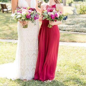 "Azazie ""Bonnie"" Bridesmaid Dress, Burgundy"